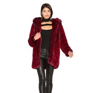 LPA Jackets & Coats - Host Pick LPA Faux Fur Coat 84 in Blood Red